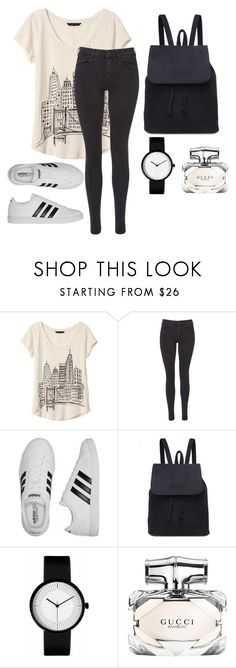 """""""street style"""" by shoushou324 ❤ liked on Polyvore featuring Banana Republic, Maison Scotch, adidas and Gucci"""
