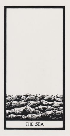 The Sea | Edward Gorey Tarot Deck | Modern Oracle Art | Minimalism | Divination | Psychic Tools