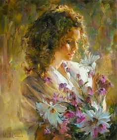 Kai Fine Art is an art website, shows painting and illustration works all over the world. Woman Painting, Painting & Drawing, Texture Painting, L'art Du Portrait, Portraits, Inspiration Art, Fine Art, Beautiful Paintings, Romantic Paintings