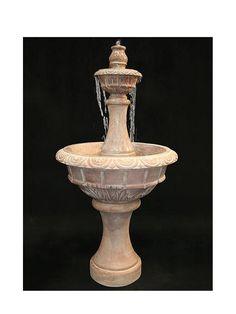 Roma Tiered Cast Stone Garden Fountain - Medium