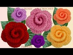 Let's learn together your own fashion accessories, basic and other creative points, techniques and tips to learn or develop the art of crochet and kni. Crochet Flower Tutorial, Crochet Instructions, Fabric Flower Brooch, Fabric Flowers, Crochet Doilies, Crochet Flowers, Baby Supplies, Crochet Videos, Crochet Projects