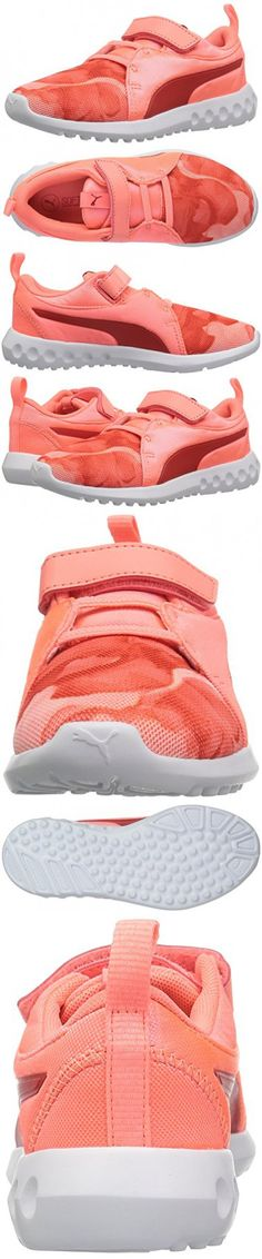 PUMA Baby Carson 2 Mineral V Sneaker, Nrgy Peach-Poppy Red, 10 M US Toddler