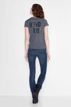 T-Shirt Now Slub Bis, gewitterblau, Zadig & Voltaire