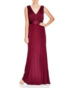 Vera Wang Sleeveless V-Neck Gown   Bloomingdale's