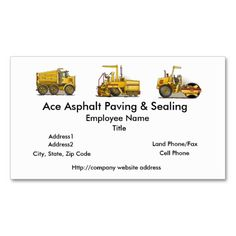 Roller Construction Business Cards. This is a fully customizable business card and available on several paper types for your needs. You can upload your own image or use the image as is. Just click this template to get started!