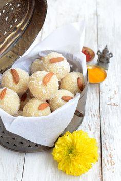 Nariyal ke ladoo is a perfect recipe to make for Janmashtami or Gokulashtami.