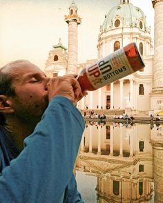 #BottomsUP #GingerBeer enjoyed at Karlskirche in Vienne, Austria - Winner of #TheGingerPeople employee photo contest by Julie.