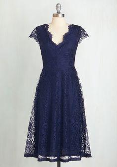 Ever So Enchanting Dress - azul, contínuo, Vieiras, Festa, A-line, mangas, Renda, V Neck, Long, malha, do casamento, da dama de honra, Renda