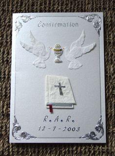 Handmade Confirmation card by mandishella