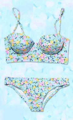Floral bikini! #SMIRNOFFsorbet #GuiltlessPleasure