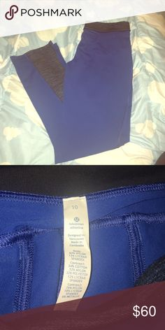Lululemon athletica pants Royal blue colored pants, very soft and comfortable. In excellent condition, only worn once😊👌🏽 Pants have two back pockets, also has a black and blue waistband. The bottom is a little flare. lululemon athletica Pants