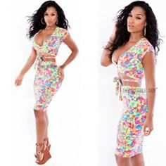 Colorful Floral dress women printing dress Fashion sexy evening Lady costumes dress sexy lingerie for Party night club dress