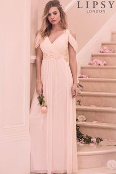 a6b72fb40c7e Buy Lipsy Samantha Floral Trim Cold Shoulder Maxi Dress from the Next UK  online shop Bridesmaid