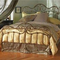 Stonehurst Cast Bed - Queen Size Brass Bisque