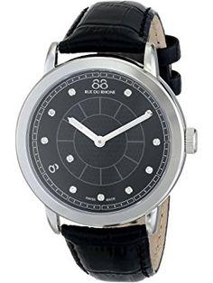 88 Rue du Rhone Men's 87WA120026 Analog Display Swiss Quartz Black Watch ❤ 88 Rue du Rhone Swiss Made Watches, Rhone, Men, Guys