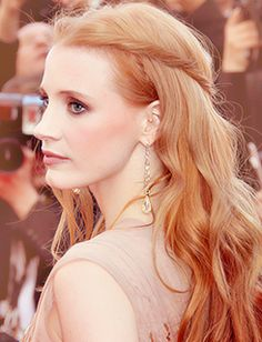 Jessica Chastain, her hair is beautiful
