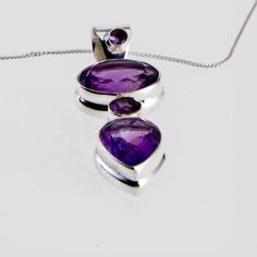 Sterling Silver Small Round, Oval, Round and Teardrop Pendant, in the price is a , or Sterling Silver snake chain. Silver Shop, Stone Pendants, Sterling Silver Jewelry, Jewerly, Amethyst, Rocks, Jewelry Design, Gems, Range