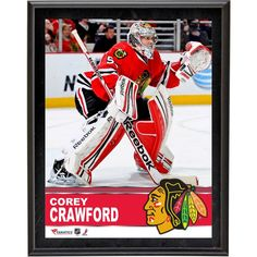 "Corey Crawford Chicago Blackhawks Fanatics Authentic 10.5"" x 13"" Sublimated Plaque"