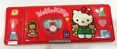 Vintage Hello Kitty Pencil Case 1993 Sanrio made in Japan by TownOfMemories on Etsy