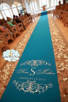 My girl is gifting me my aisle runner and I love her so effing much ...