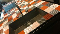 Cucina Minà di #Minacciolo con top in pietra lavica by #MadeAMano, Cer Stile Pad 30 #Cersaie2015 #MCaroundCersaie