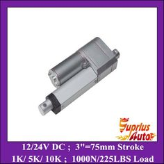 "(38.25$)  Buy here - http://aivke.worlditems.win/all/product.php?id=1044143951 - ""12v dc Electric Linear Actuator motor with Potentiometer feedback 75mm/ 3"""" stroke 1000N=225lb 12 volt actuator"""