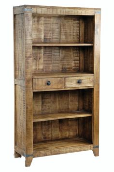 McCoy Mango Wooden Bookshelf - Rustic Shelving & Display