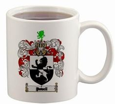 $15.99 Powell Coat of Arms Mug / Family Crest 11 ounce cup