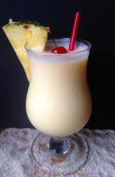 Skinny Pina Colada. All the taste of your favorite tropical cocktail with a fraction of the calories and fat!