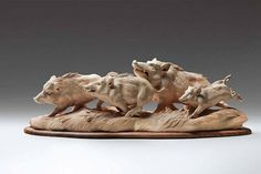 Intricately Carved Wooden Animal Sculptures Leap To Life by Italian Artist Giuseppe Rumerio