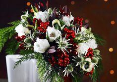 Näyttävä joulukimppu kruunaa joulupöydän. Viherpihan ohjeilla onnistut!