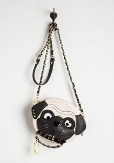 Be Aware of Dog Bag. Cause a stylish scene when you rock the dog with this quirky crossbody by Betsey Johnson! #cream #modcloth