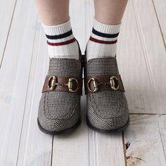 2本ラインリブショートソックス 靴下屋 / ¥630