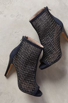Miss Albright Labyrinth Mesh Shooties - #anthrofave