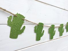 CACTUS paper banner, glitter green cactus banner, western banner, southwest decor, desert banner, green, western decoration, party banner by RedBirdBanners on Etsy https://www.etsy.com/listing/238150607/cactus-paper-banner-glitter-green-cactus