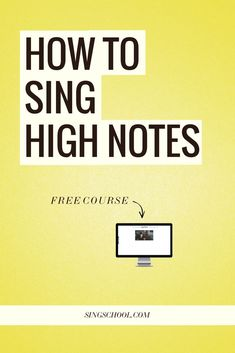 Free email course on how to sing high notes with ease.