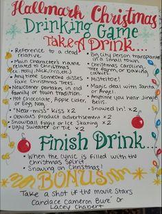 Hallmark Christmas Movie Drinking game