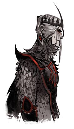 melkorwashere:  Sketches of Sauron's armor during II Age (before Numenor) I wanted to make a helmet in the shape of one of his animals - wolves, bats or snakes. Stop on Wolf's Head
