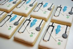 Decorated sugar cookies - Doctor Coats. The piping is unbelievable!