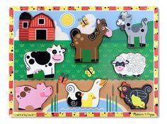 Melissa & Doug Farm Wooden Chunky Puzzle [Toy]
