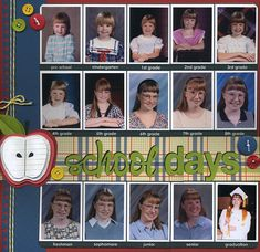 """Another one of my layouts from Scrapbook.com...inspired by Valerie Salmon's """"Ultimate School Album Class"""""""