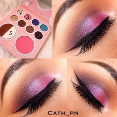 Using the BH cosmetics That's Heart palette.