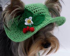 Hat for dog Sakura Blossoms/ Crochet dog hat / Dog Beanie /