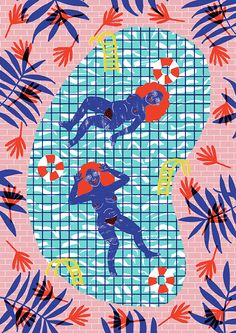 It's Nice That : Camilla Perkins' vibrant characters clash brilliantly with their surroundings