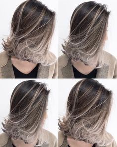 Short Layered Hair Style - 60 Classy Short Haircuts and Hairstyles for Thick Hair - The Trending Hairstyle Henna Hair Color, Ombre Hair Color, Short Hair Dos, Short Hair Styles, Hair Arrange, Haircut For Thick Hair, Layered Hair, Hair Highlights, Balayage Hair