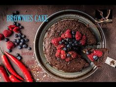 Chocolate brownie (dish) cake, BIG ONE with berries and nuts! Cake brownies style, with lots of forest fruits on top and nuts inside! Use best chocolate for . Best Chocolate, Chocolate Brownies, Forest Fruits, Brownie Cake, Berries, Channel, Dishes, Creative, Kitchen