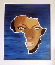 """""""L'Afrique"""" peinture à l'huile"""
