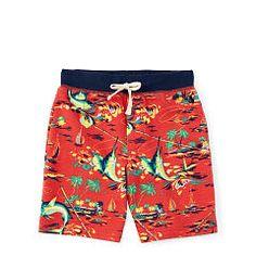 Printed Cotton Terry Short - Boys 2-7 Pants & Shorts - RalphLauren.com