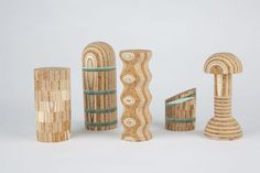 <p>Specialized in surface and textile design, Theo Riviere also managed to gather mindfully different materials to create new surface patterns. By layering cork, plywood and plexiglass, his series of