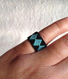 Nothin' but SEED BEADs Ring - Diamond Pattern